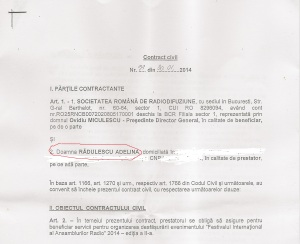 Contract Adelina Radulescu