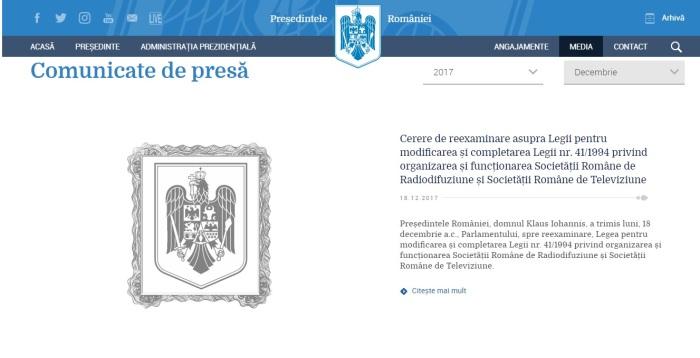 site Presidency