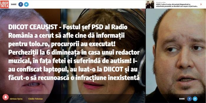 Libertatea DIICOT CEAUSIST fostul sef PSD al Radio Romania Ovidiu Miculescu