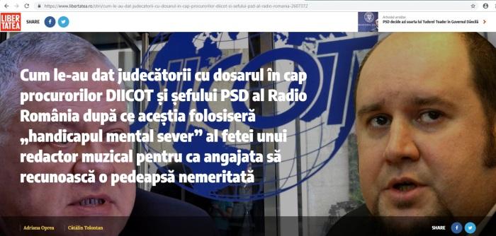 Poza cu Miculescu si sef DIICOT libertatea